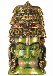 Wood Hanuman Wall Hanging 17