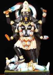 Black Marble Painted Kali  Shiva 24