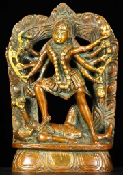 Brass Kali Dancing on Corpse of Siva 7