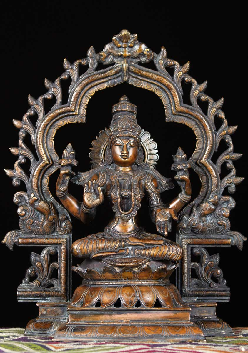 Sold Brass Lakshmi With Beautiful Arch 16 Quot 61bs56
