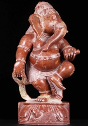 Red Marble Dancing Ganesha 18