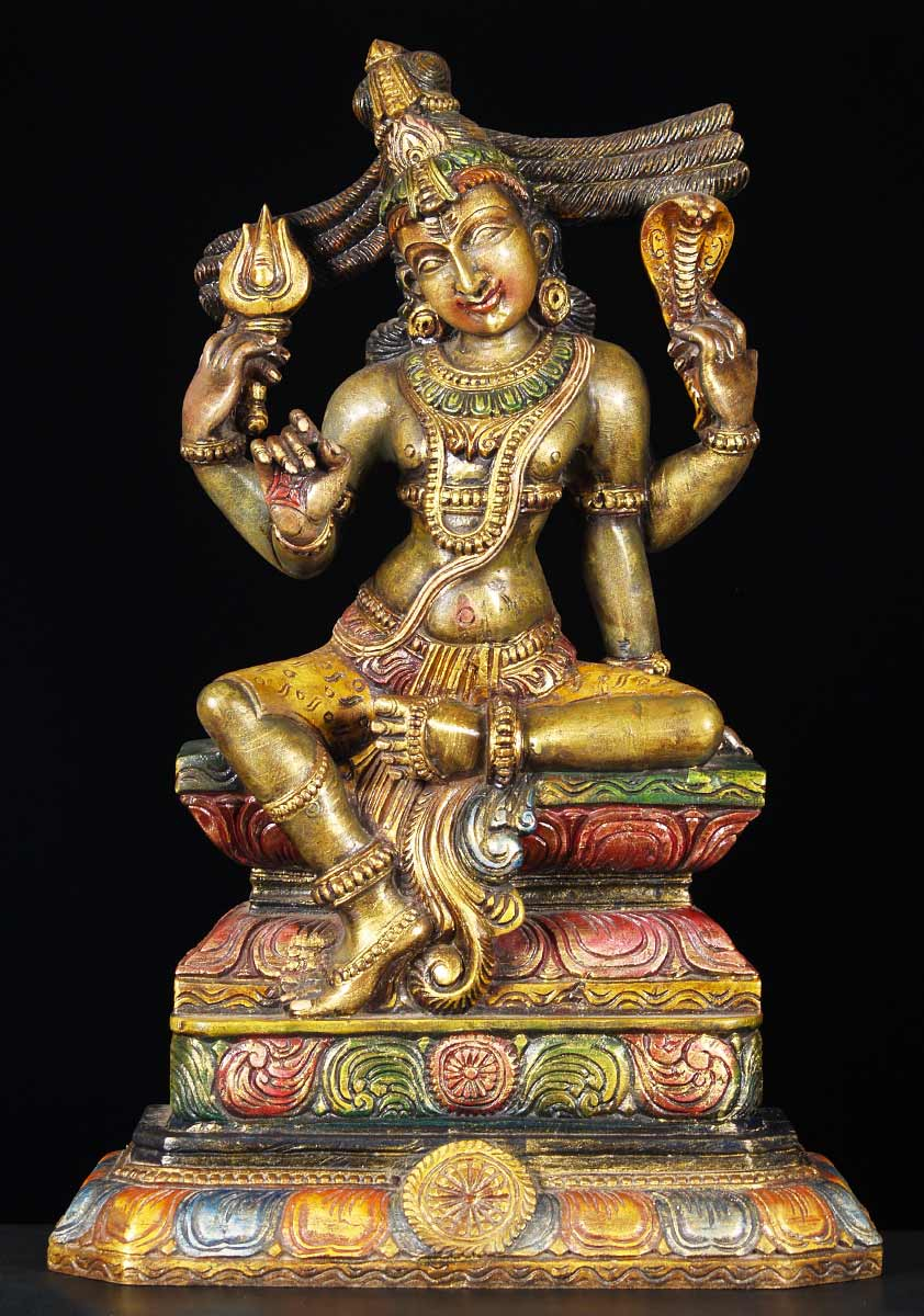 Sold wood siva hindu god of destruction 24 quot 65w13z hindu gods