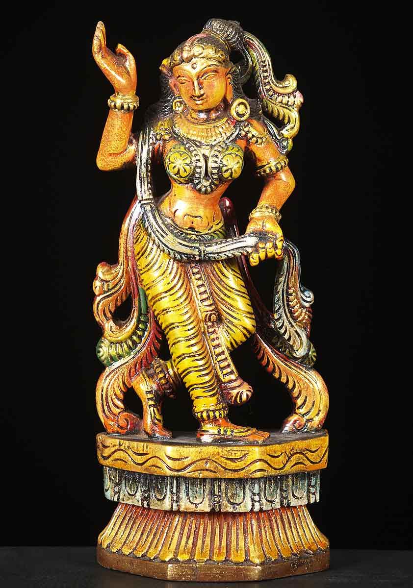Sold Wood Small Dancing Devi Statue 12 Quot 65w10d Hindu