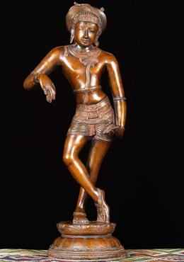Brass Shiva Statue Wearing Turban 24