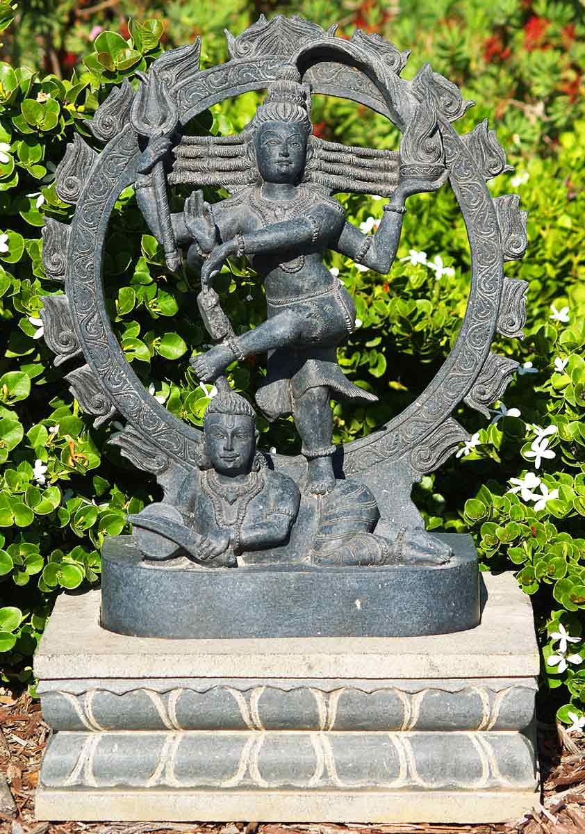 Sold Black Marble Nataraja Sculpture 29 Quot 65bm4 Hindu