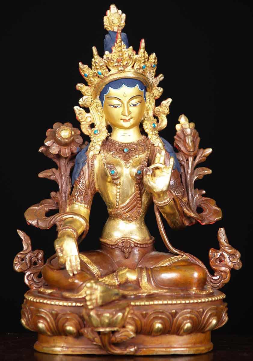 Sold Green Tara Nepali Buddha 9 Quot 61ns19 Hindu Gods