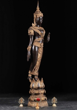 Brass Royal Sukhothai Walking Buddha 56