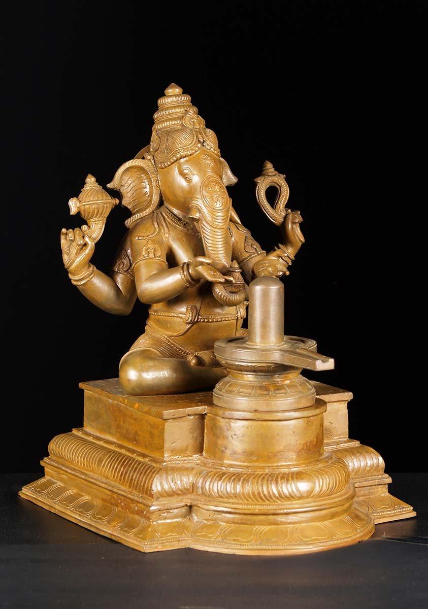 Lingam Statue SOLD Bronze Ganesh Lin...