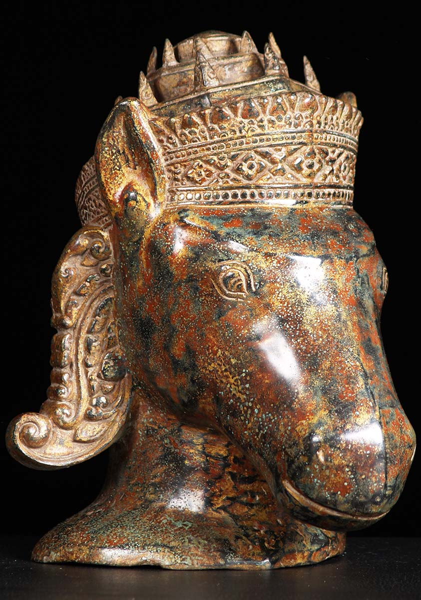 Sold Kalki Bust With Stunning Patina 11 Quot 84cb2 Hindu