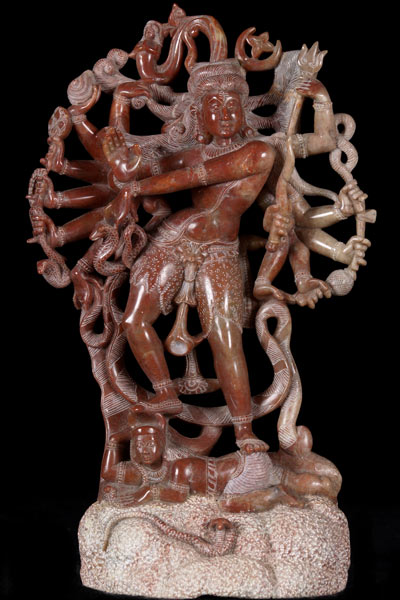 Sold Marble Shiva Statue With 14 Arms 14 5 Quot 28rm23