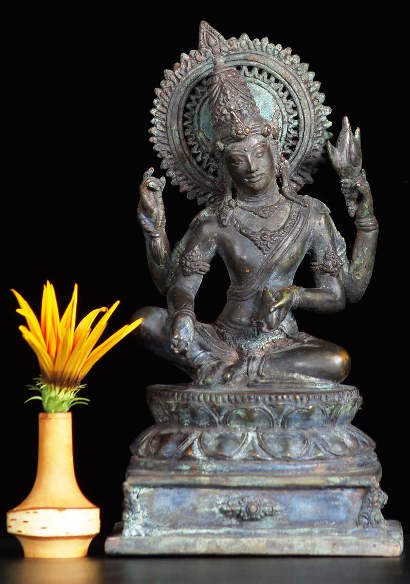 Sold Antique Brass Vishnu Statue 11 Quot 81bb35 Hindu Gods