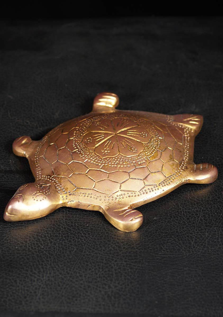 Brass Turtle With Vaastu Shastra For Luck 85