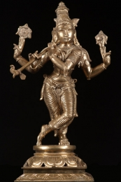 Polished Bronze Venugopal Statue 185
