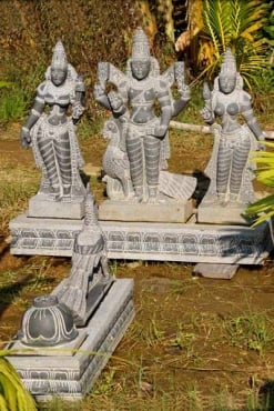 Granite Murugan Set With Base & Peacock 45