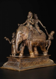 Elephant Statue with Mahouts 8