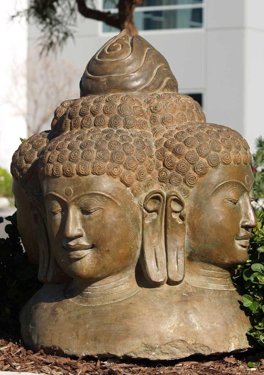 Sold Brahma Bust With Four Faces 30 Quot 59ls3 Hindu Gods