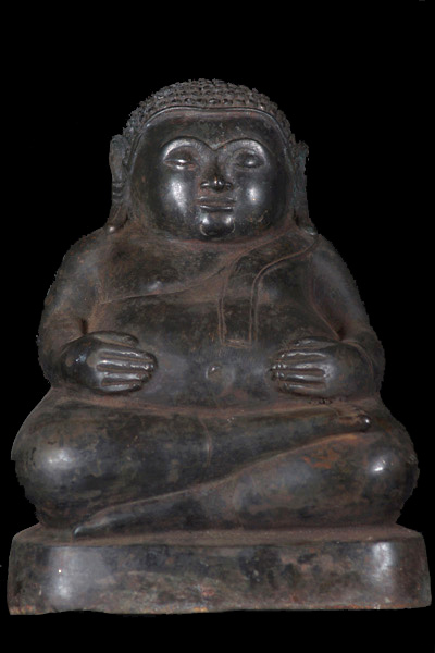 Sold Fat Buddha Statue Holding His Belly 8 5 Quot 43t50a