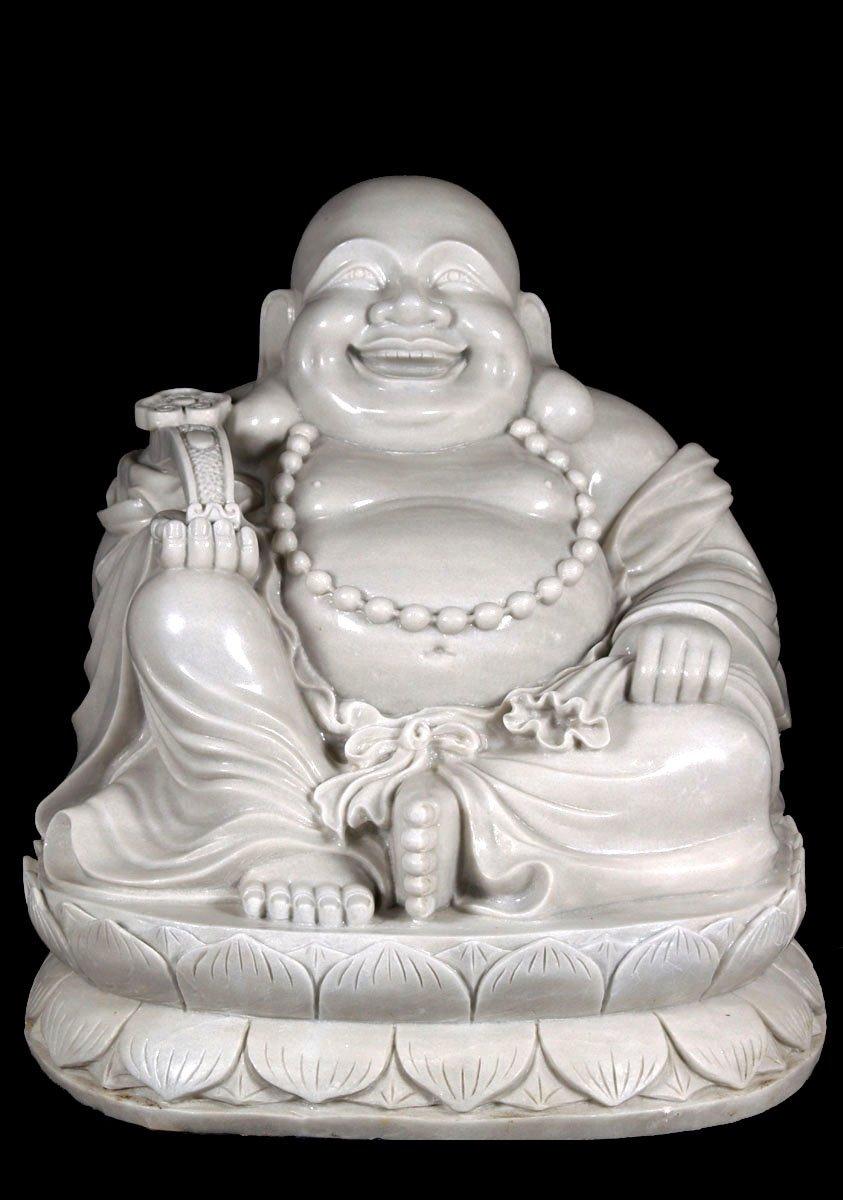 Sold Fat Buddha Holding Wish Stick 36 Quot 45w2 Hindu Gods