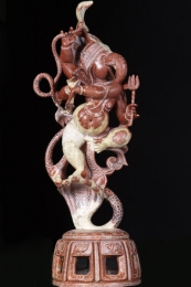 Marble Ganesh Dancing on Serpent 18