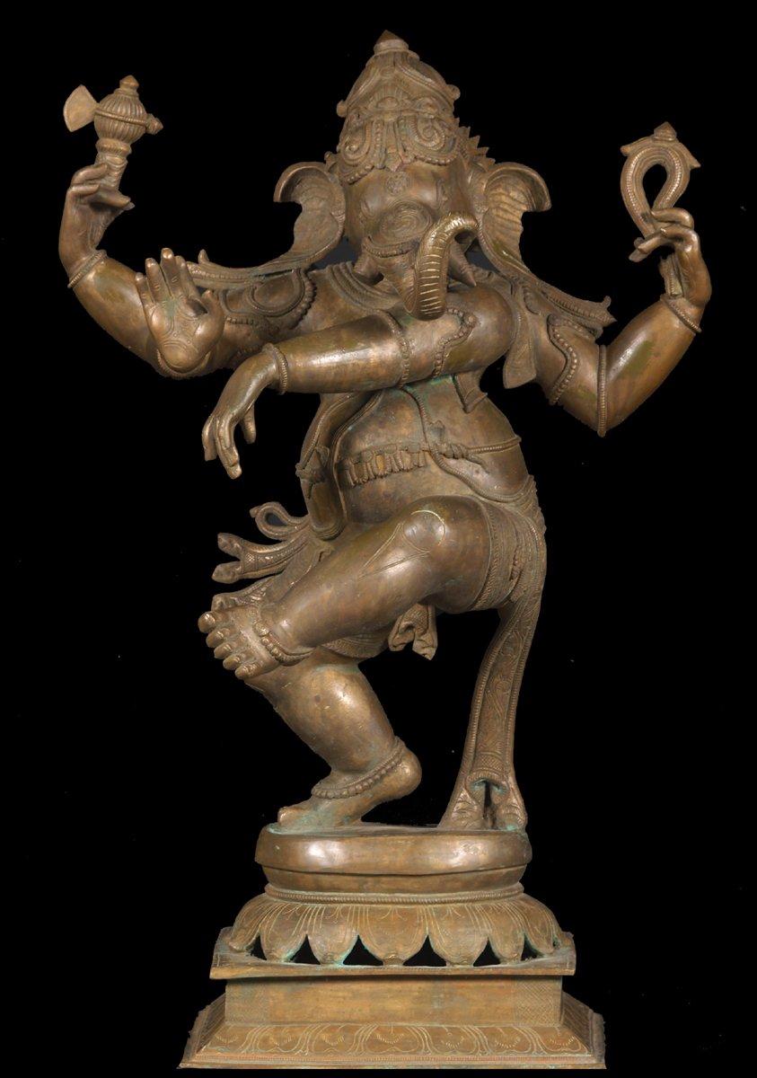 Sold Bronze Nataraj Ganesh Bronze Statue 31 Quot 49b18