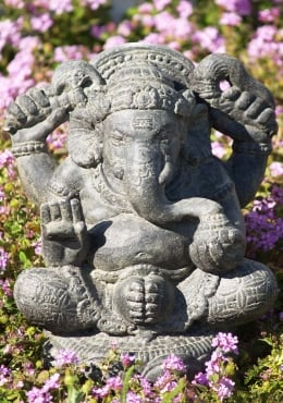 Seated Garden Ganesh Statue 16