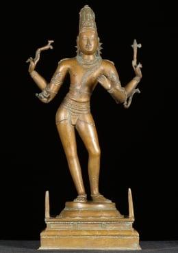 Sold Bronze Mrityunjaya Siva Sculpture 24 Quot 9bc23 Hindu