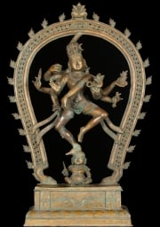 Bronze Nallur Shiva on Dwarf 235