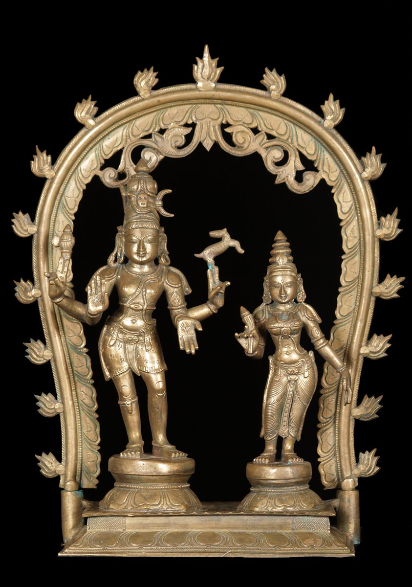 Sold Shiva Amp Parvati Statue With Arch 16 Quot 51b82 Hindu