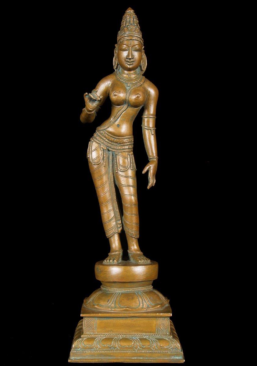 Sold Bronze Standing Parvati Statue Shiva S Consort 12 Quot 51b92 Hindu Gods Amp Buddha Statues