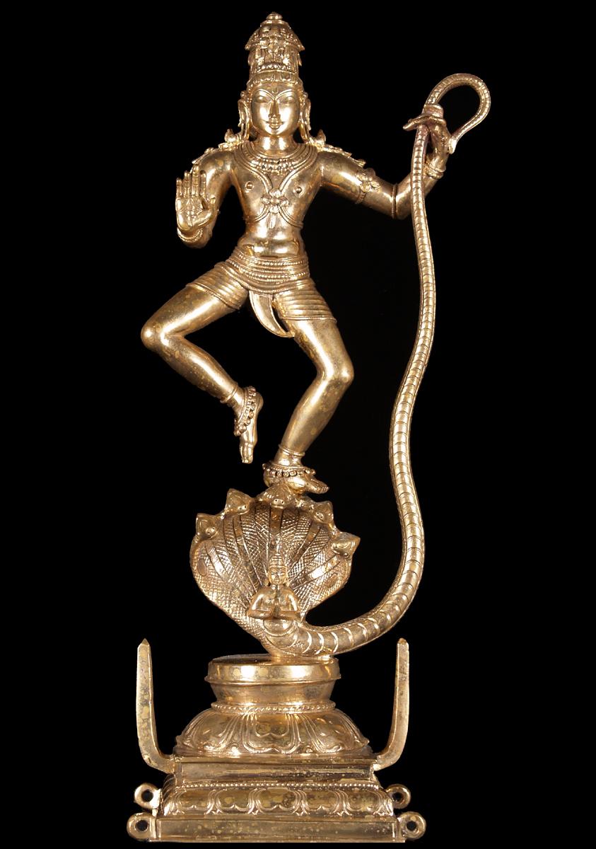 Bronze Krishna Dancing On The Serpent Kaliya 21 Quot 51b98