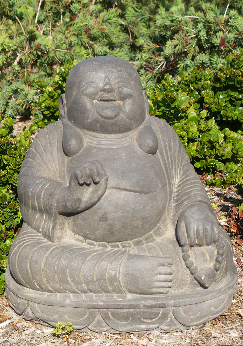 Sold Stone Fat Amp Happy Buddha Statue 21 Quot 52ls22 Hindu