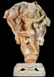 Shiva Battling the Elephant Statue 27