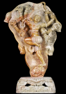 Marble Shiva Battling the Elephant Statue 27
