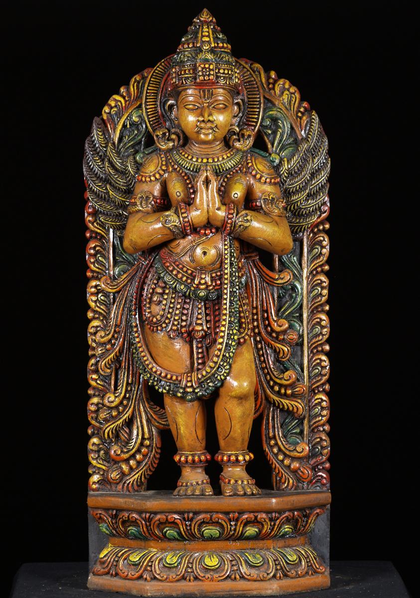 Wooden carvings hindu gods