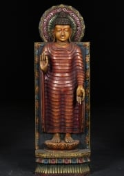 Buddha Statue Wearing Red Robes 36