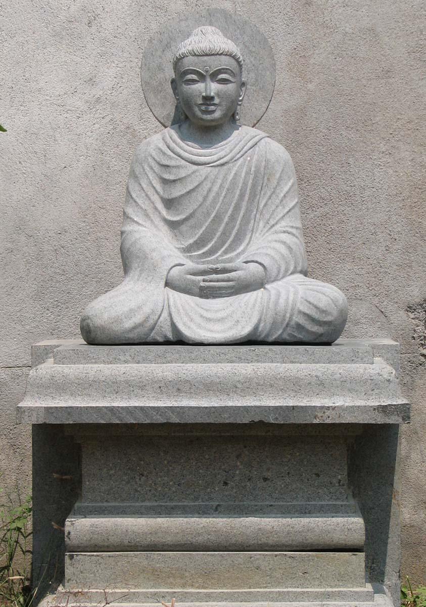 Custom Stone Meditating Gandhara Buddha 54 53g12 Hindu Gods Buddha Statues