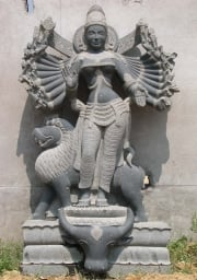 Custom Durga with 18 Arms  Lion 63