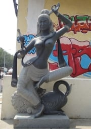 Dancing Flower Devi with Swan 80