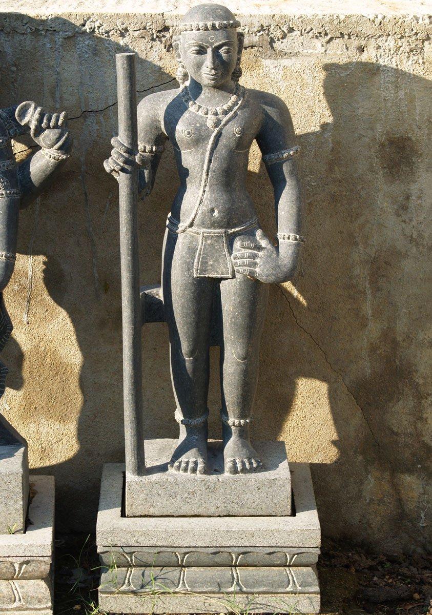 sold murugan statue holding staff 41quot 53g92j hindu