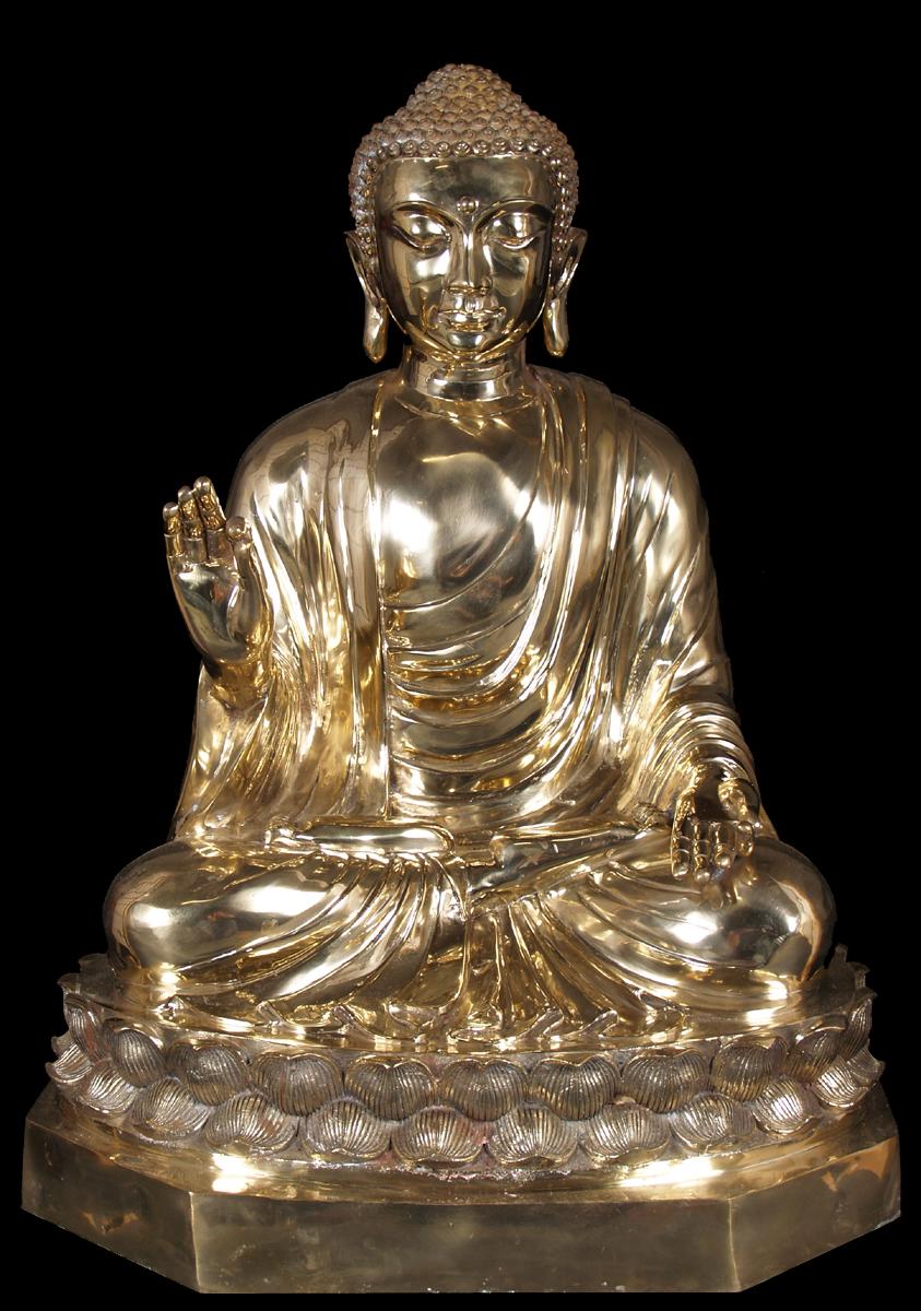 Brass Golden Japanese Teaching Buddha Statue 36 Quot 55t17