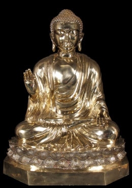 Brass Golden Japanese Teaching Buddha Statue 36