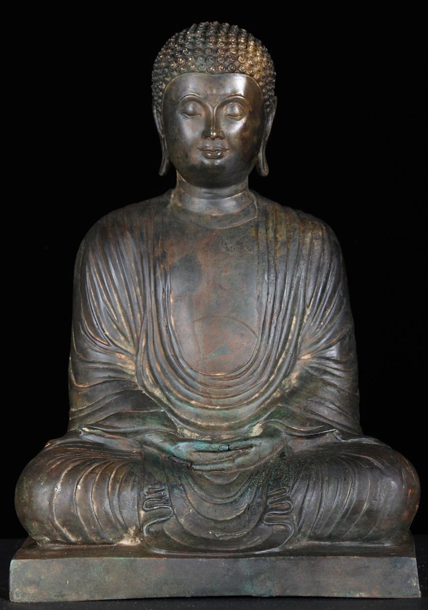Sold Japanese Meditating Buddha Statue 15 Quot 55t3 Hindu