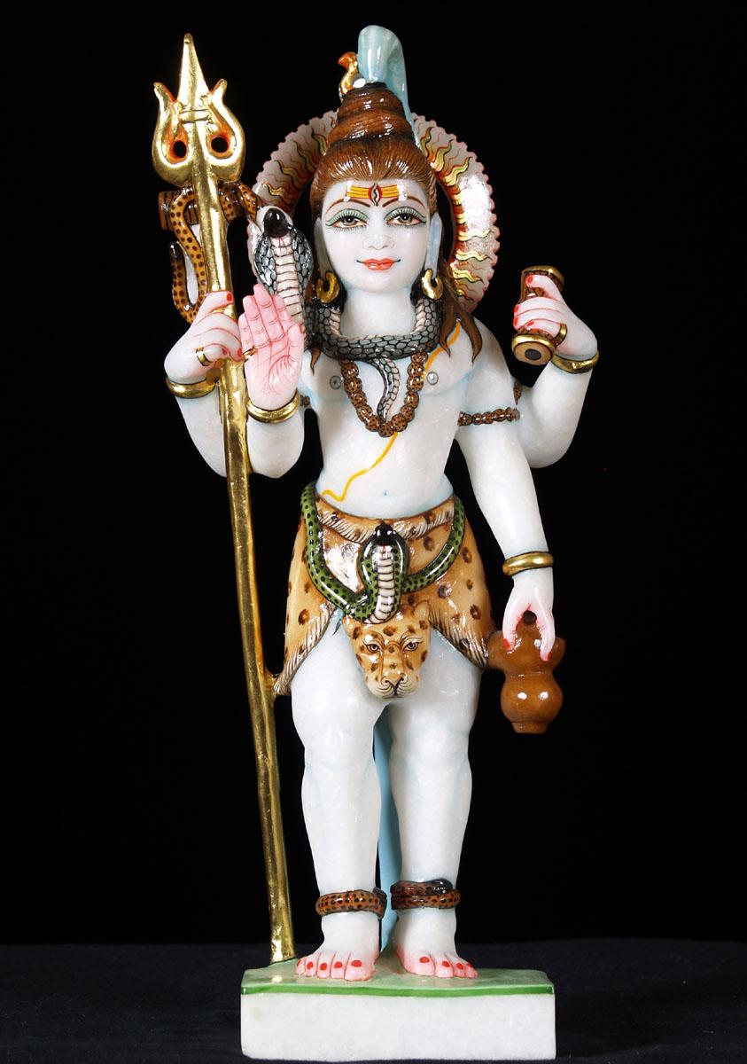 Makrana Marble Shiva Statue Holding Trident 15 Quot 57wm3g