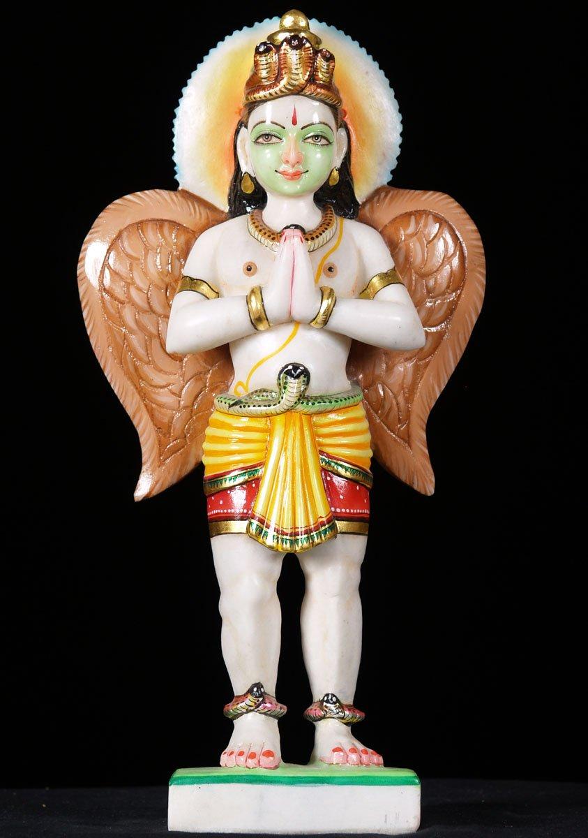 Sold Garuda White Marble Statue 15 Quot 57wm3i Hindu Gods