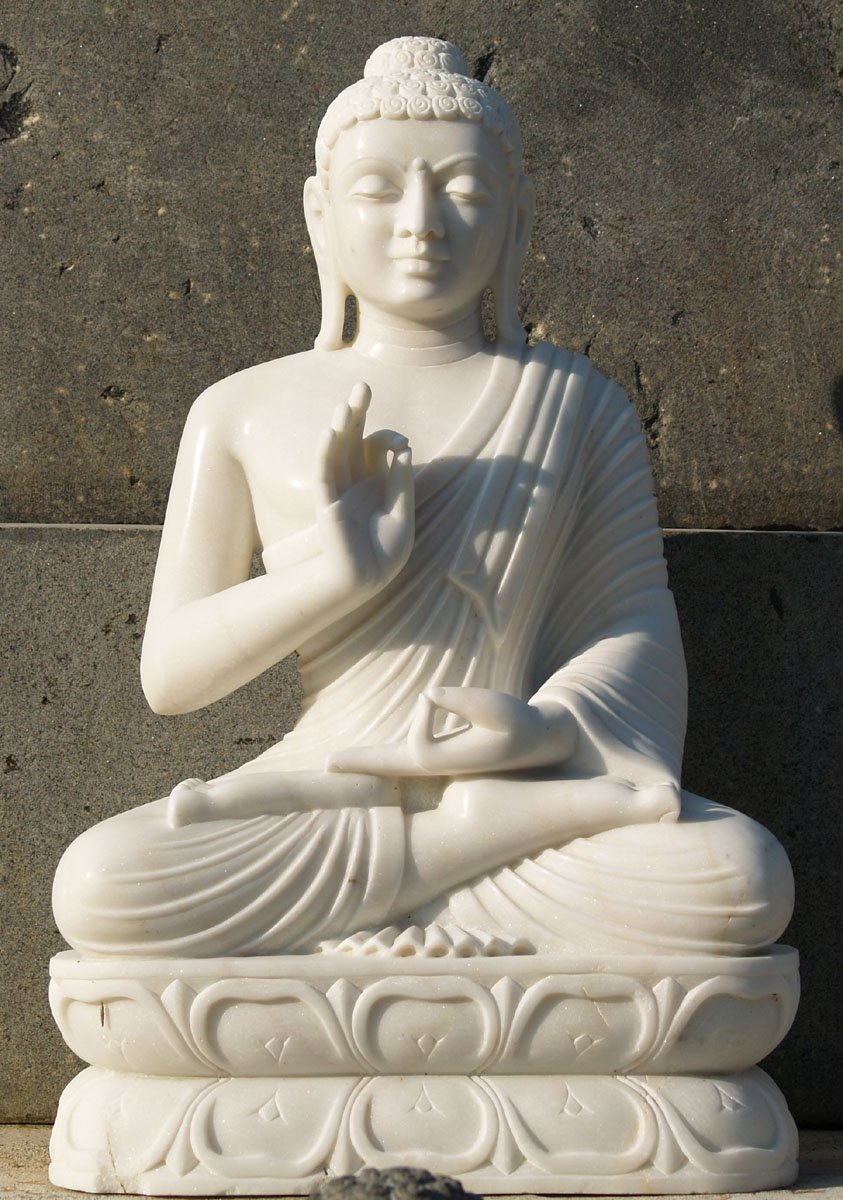 "Ups Ground Shipping Time >> SOLD White Makrana Marble Buddha Statue 30"" (#57wm91 ..."