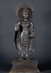 Bronze Lord Buddha with Rayed Halo 25