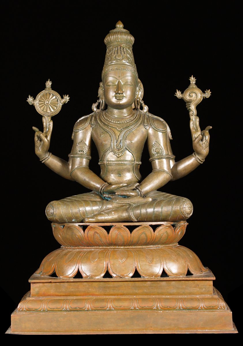 Sold Bronze Meditating Vishnu Statue 23 5 Quot 8bc8 Hindu