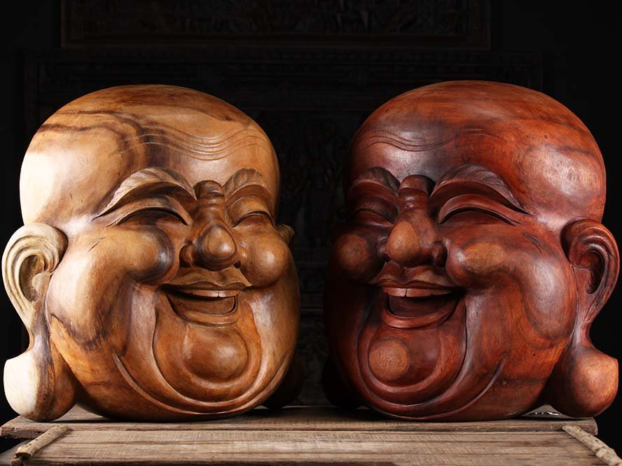 Beautiful Buddha masks