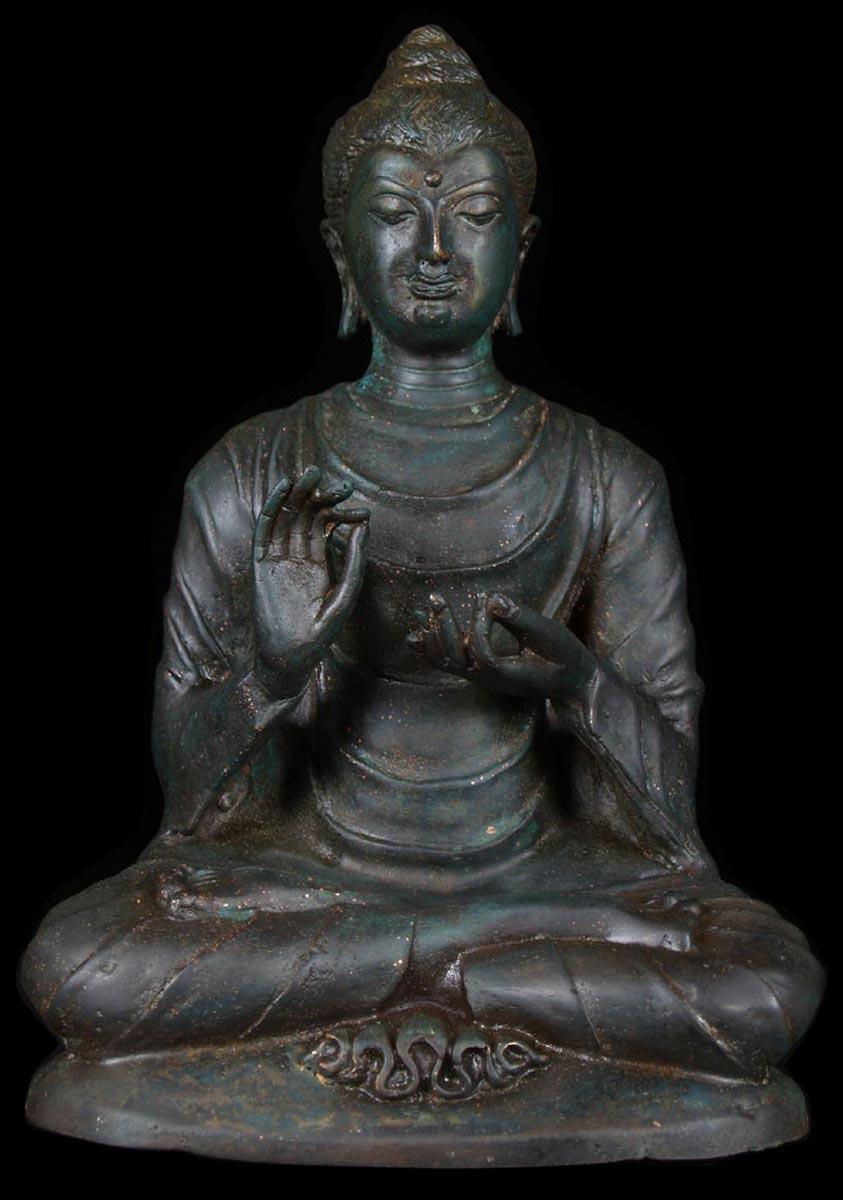 Sold Teaching Gandhara Buddha Statue 10 Quot 58t24 Hindu Gods Amp Buddha Statues