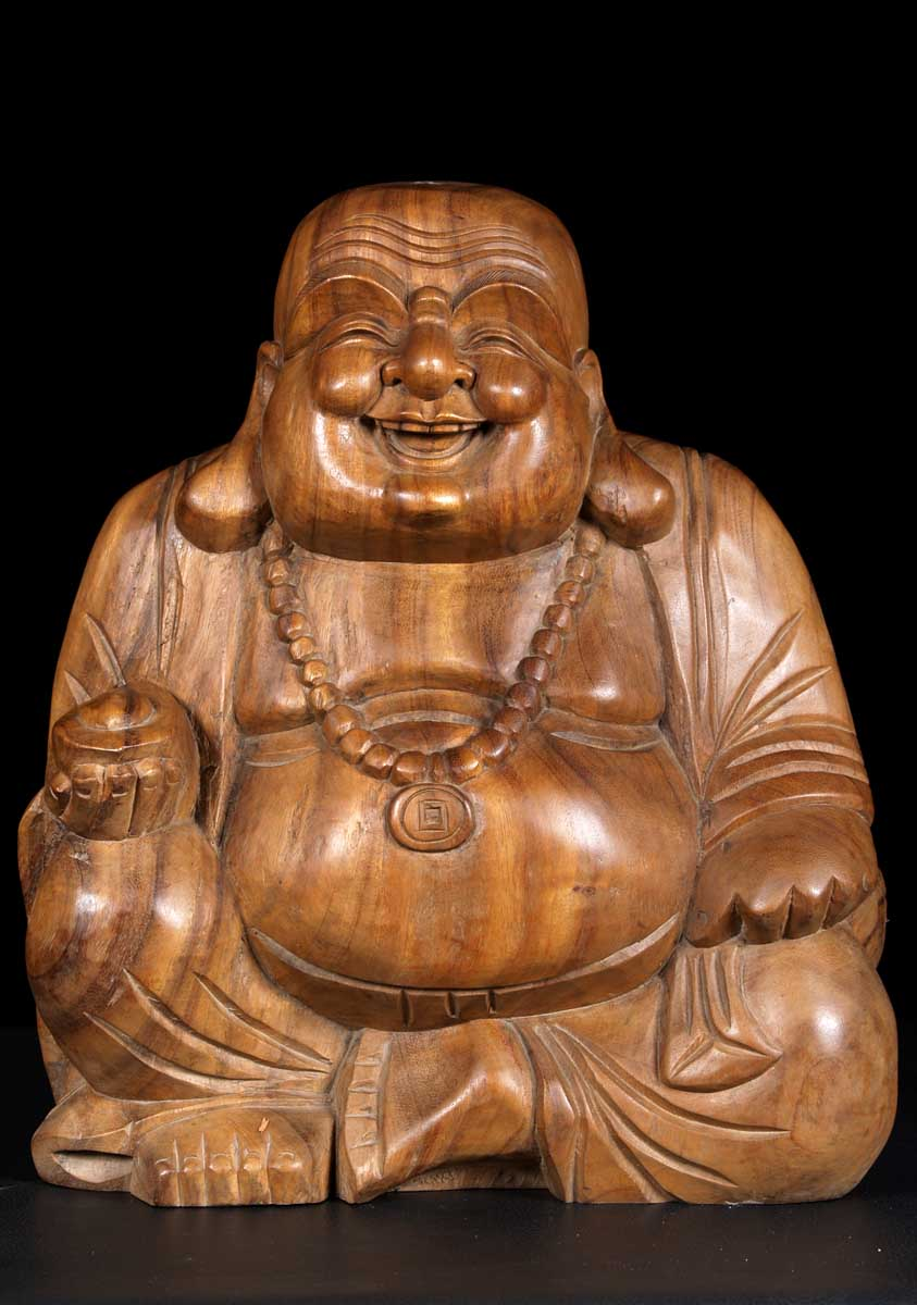Sold fat happy wood buddha quot bw c hindu gods